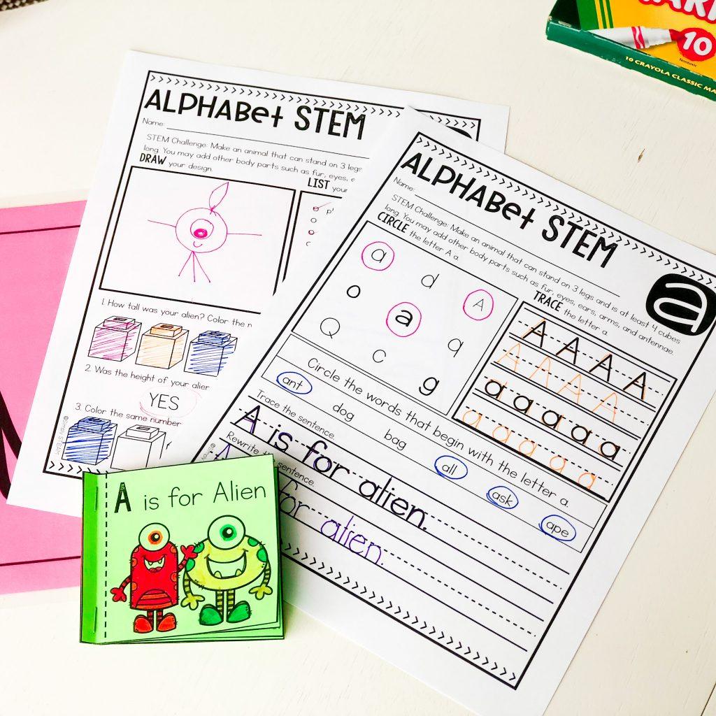 alphabet activities for kindergarten