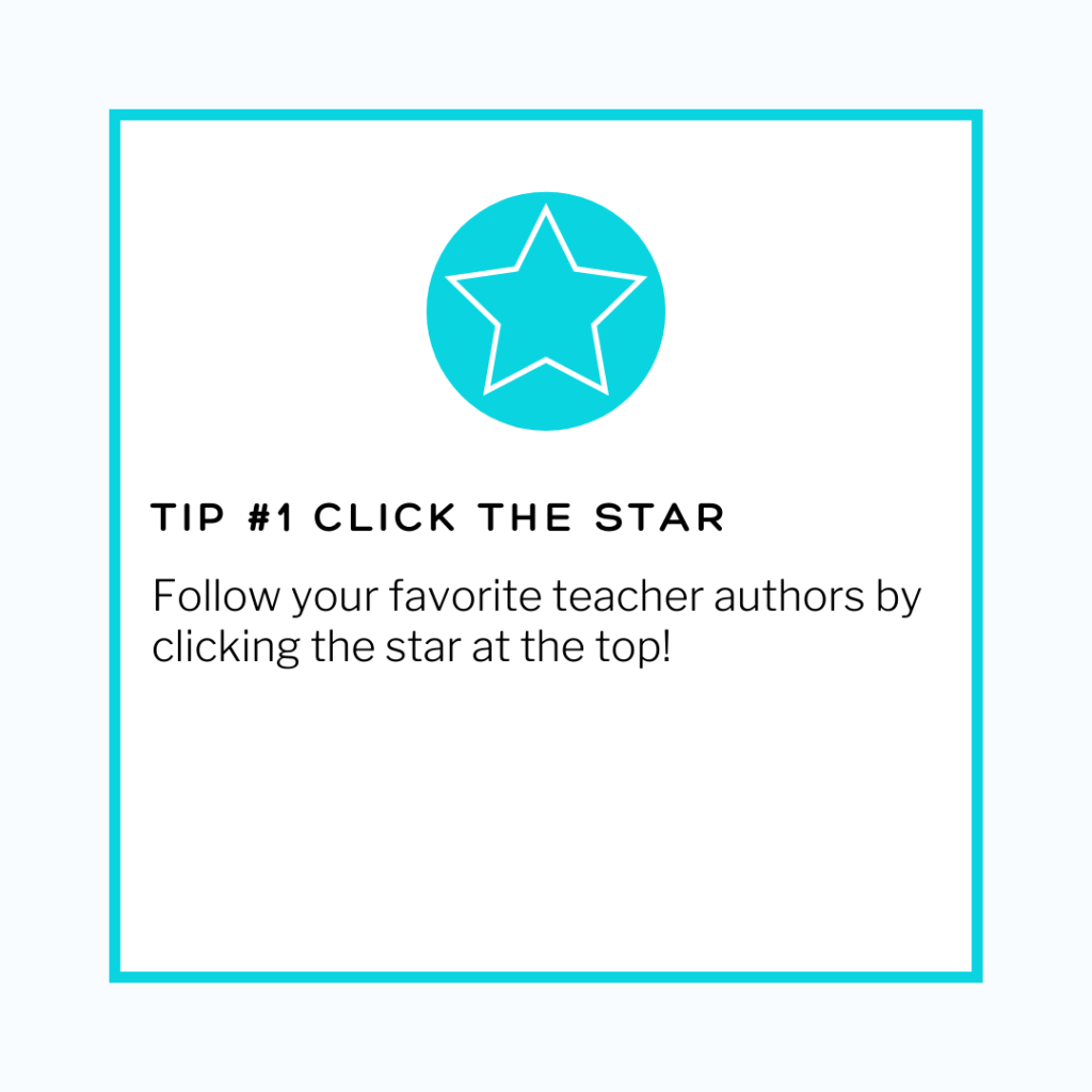 save money on tpt by clicking the star