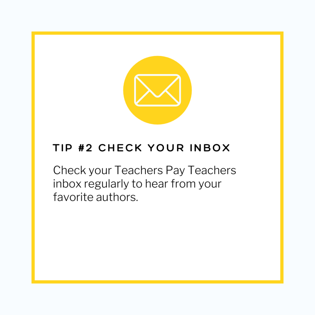save money on tpt by checking your inbox