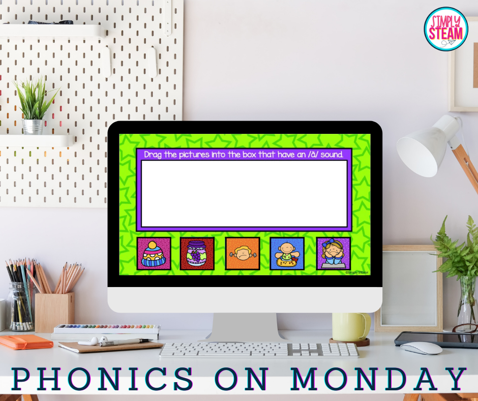 teaching phonics for distance learning on Monday