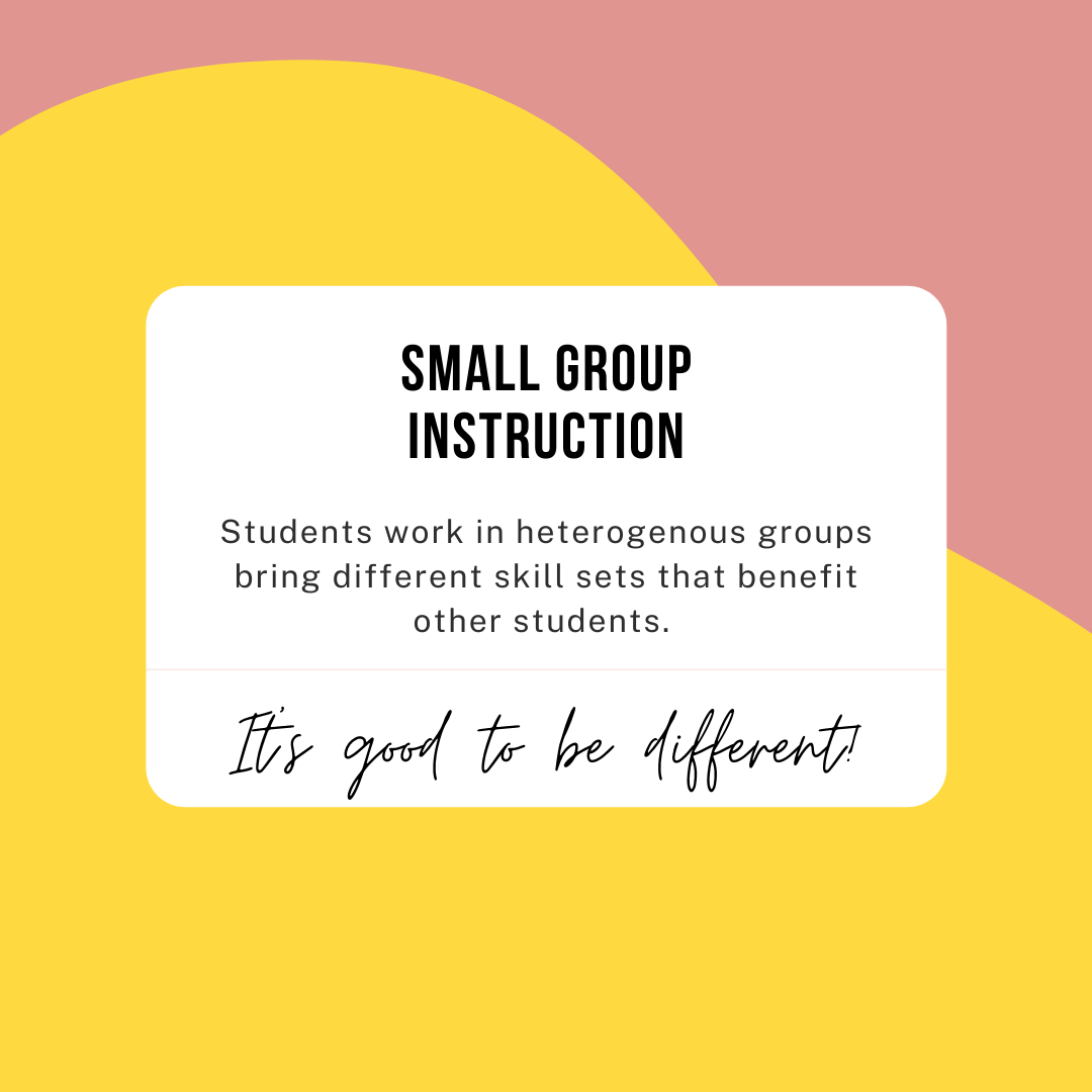 differentiate math instruction with small groups