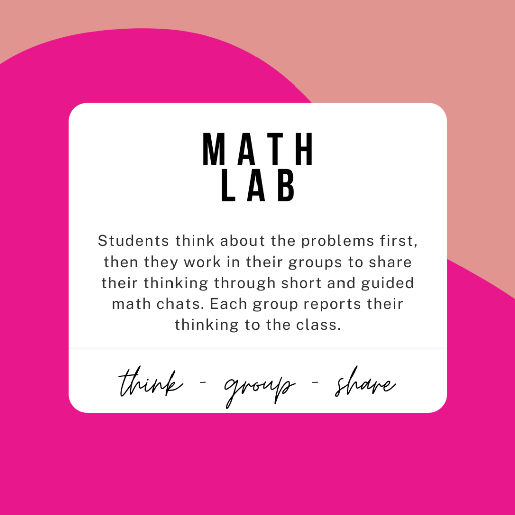 create a math lab for elementary