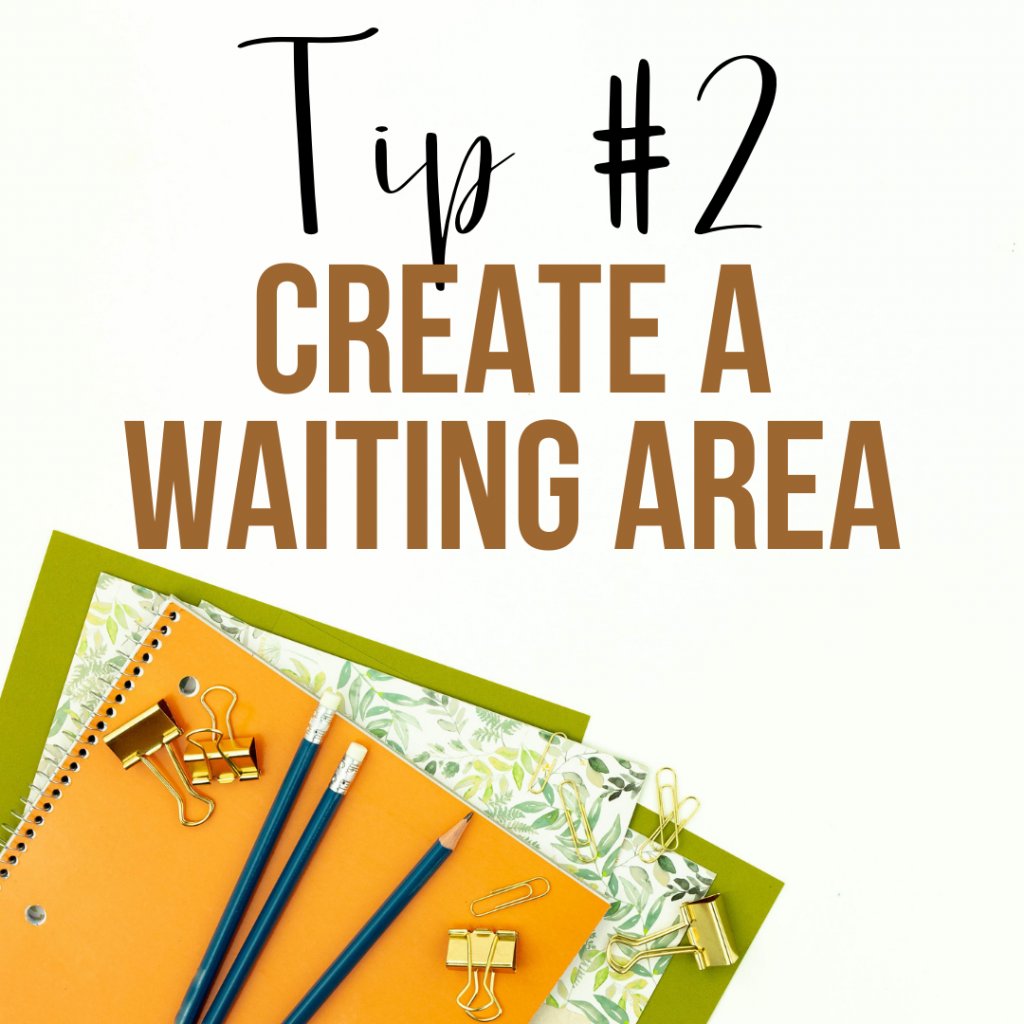 Create a waiting area before the conference